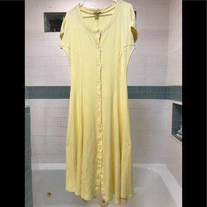 FADS Yellow Long DRESS, 100% cotton, size L